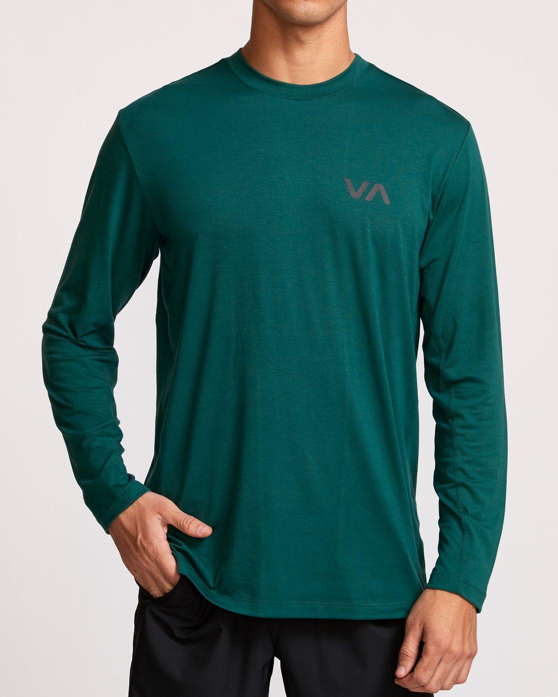 2 VA Vent Long Sleeve Top Green V903QRVL RVCA