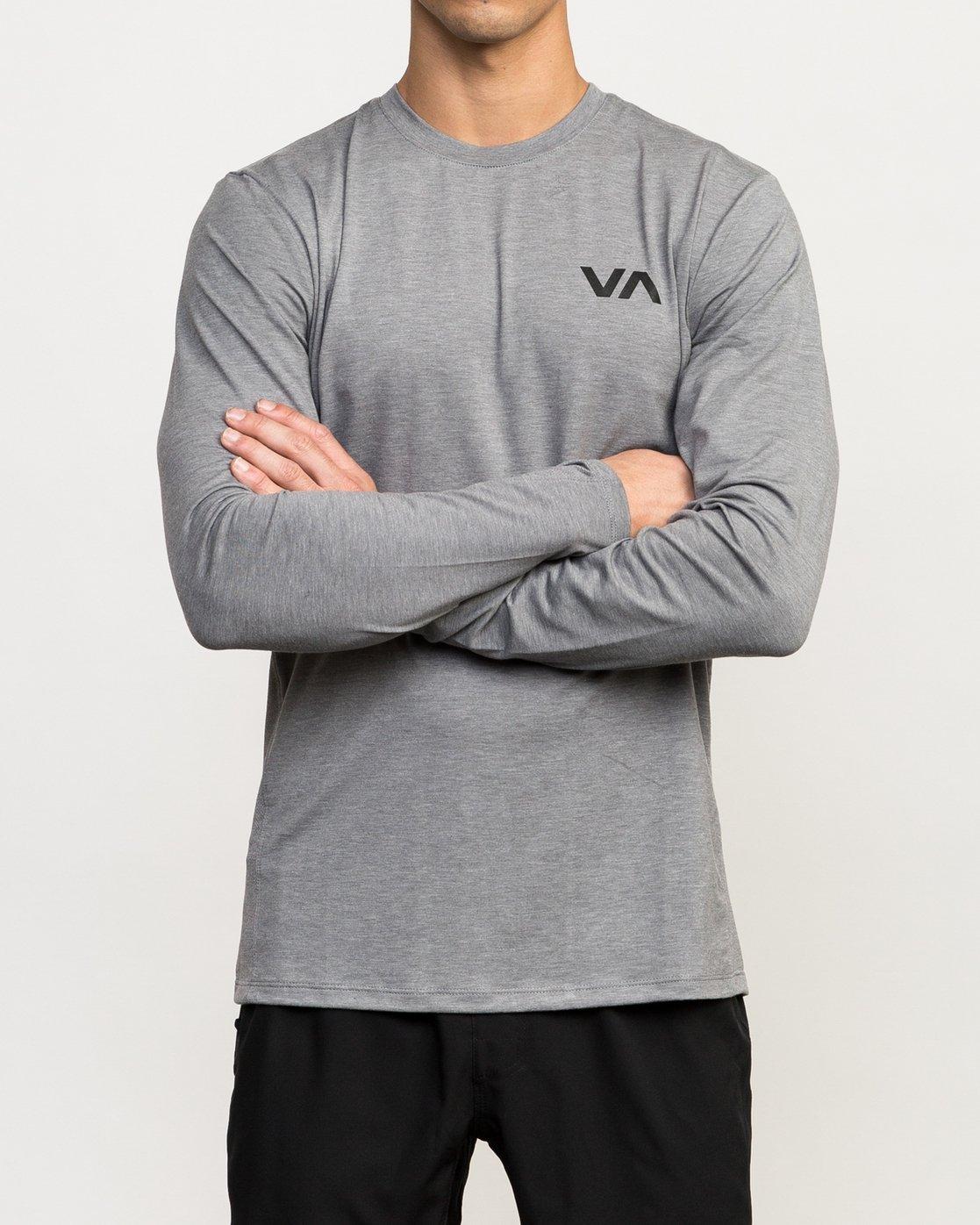 2 VA Vent Long Sleeve Top Grey V903QRVL RVCA