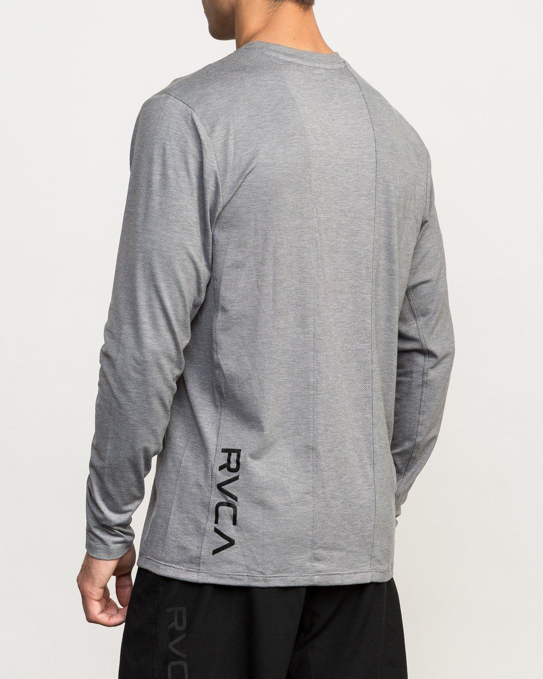 4 VA Vent Long Sleeve Top Grey V903QRVL RVCA