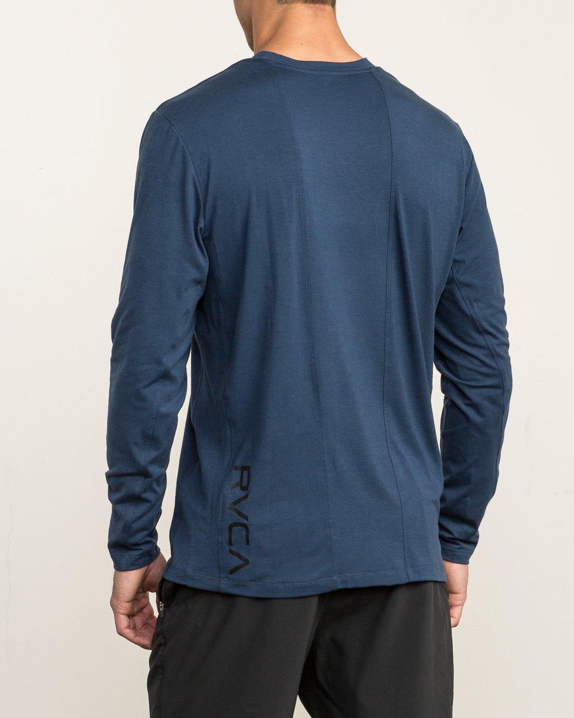 4 VA Vent Long Sleeve Top Blue V903QRVL RVCA