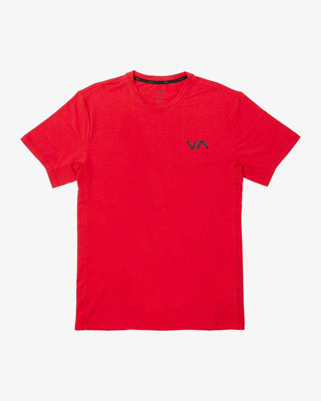 0 VA Vent Short Sleeve Top Red V904QRVS RVCA
