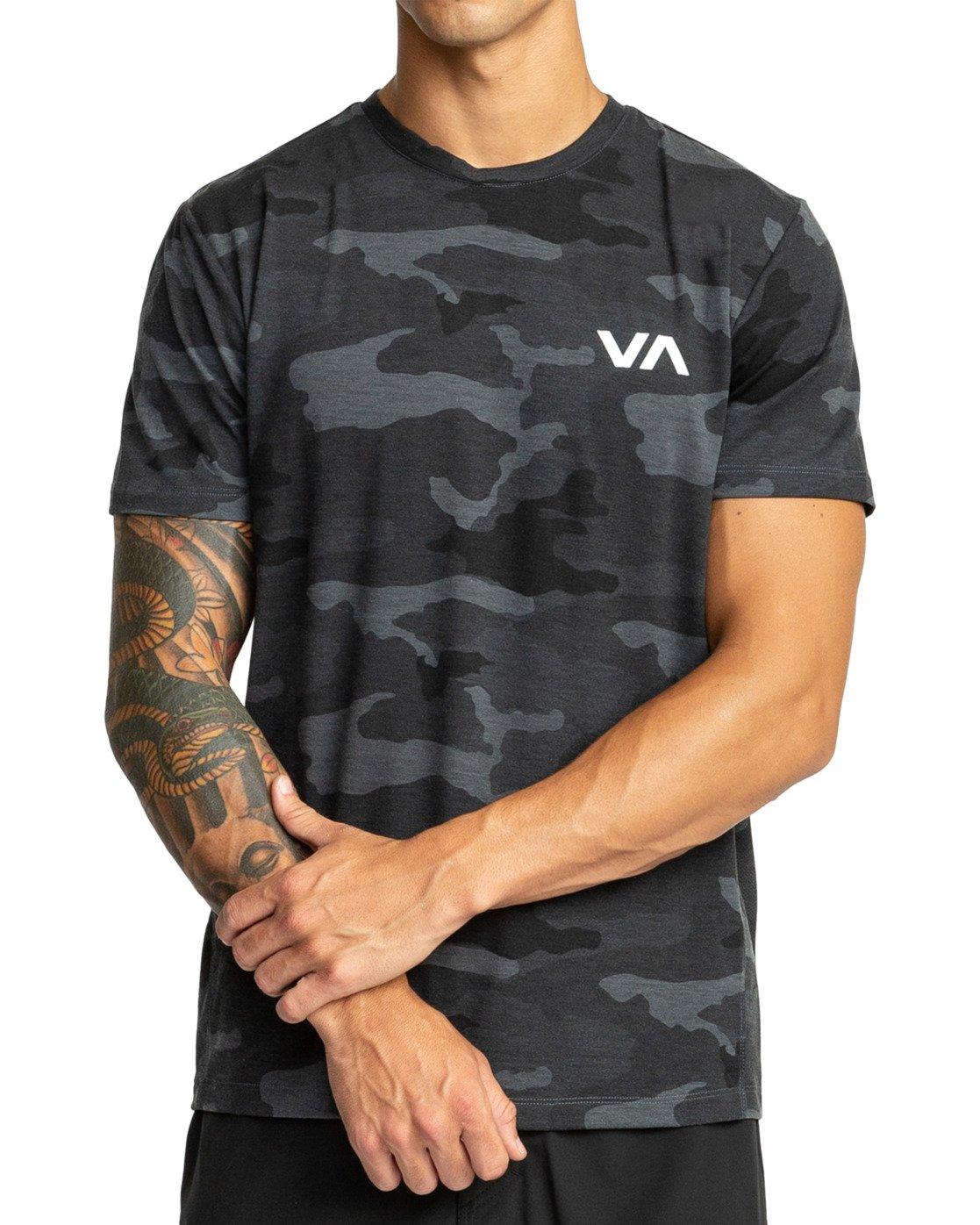 4 VA Vent Short Sleeve Top Brown V904QRVS RVCA