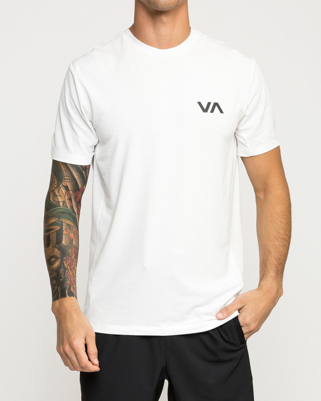 2 VA Vent Short Sleeve Top White V904QRVS RVCA