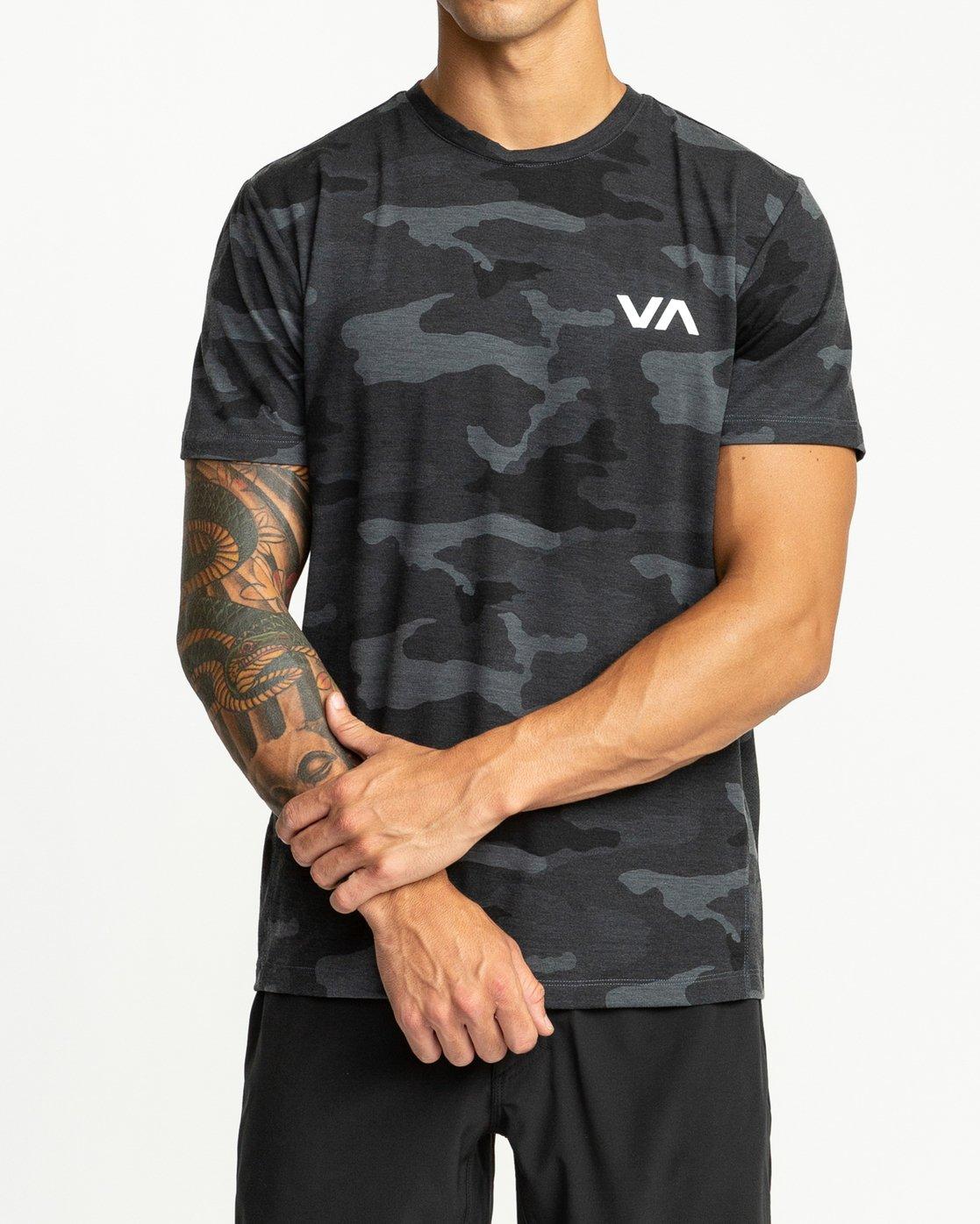 1 VA Vent Short Sleeve Top Brown V904QRVS RVCA