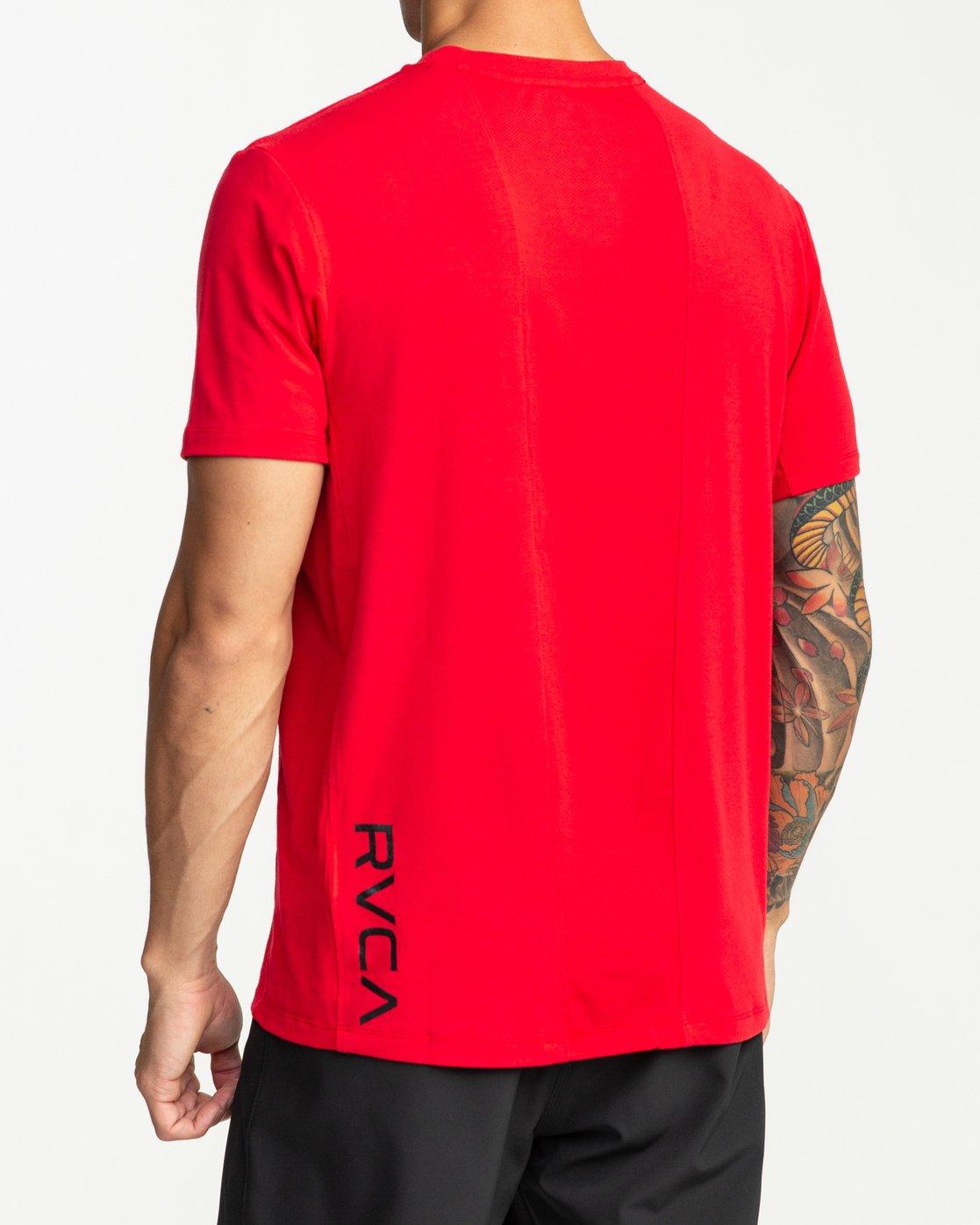 4 VA Vent Short Sleeve Top Red V904QRVS RVCA