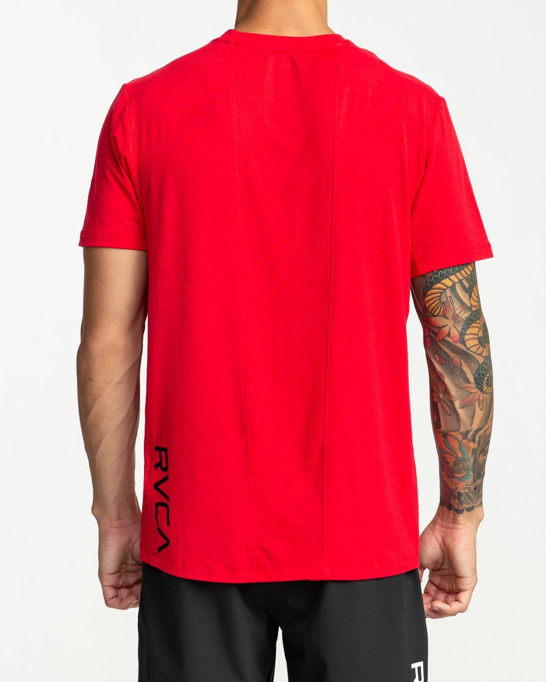 5 VA Vent Short Sleeve Top Red V904QRVS RVCA