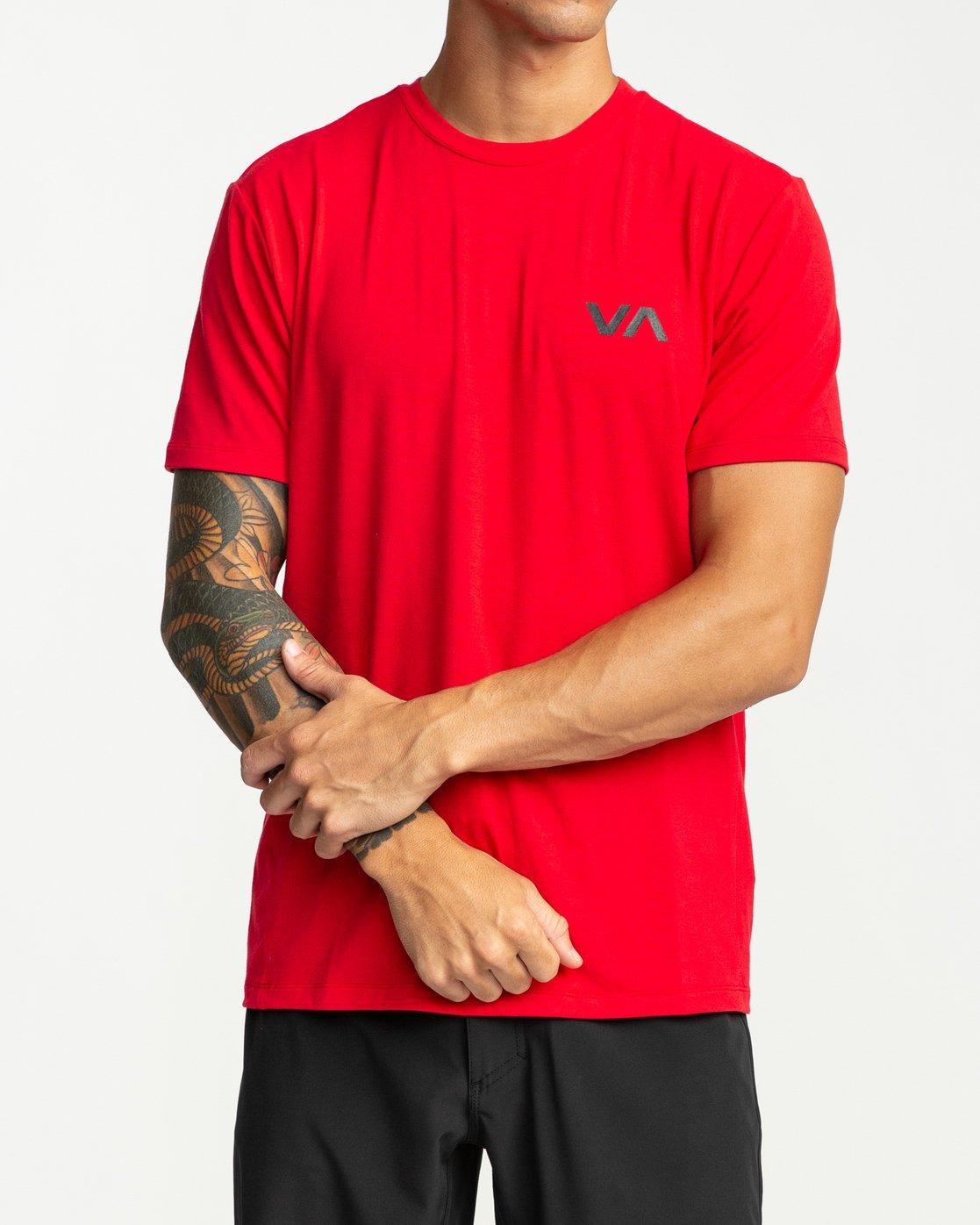 2 VA Vent Short Sleeve Top Red V904QRVS RVCA