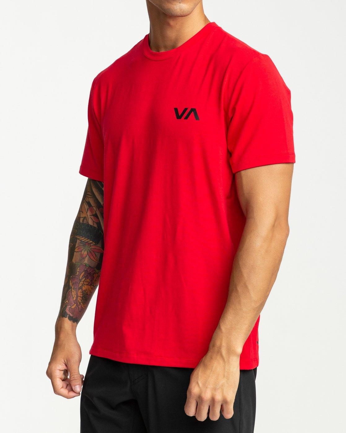 3 VA Vent Short Sleeve Top Red V904QRVS RVCA
