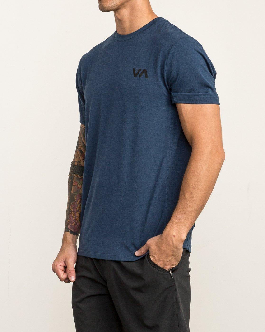3 VA Vent Short Sleeve Top Blue V904QRVS RVCA