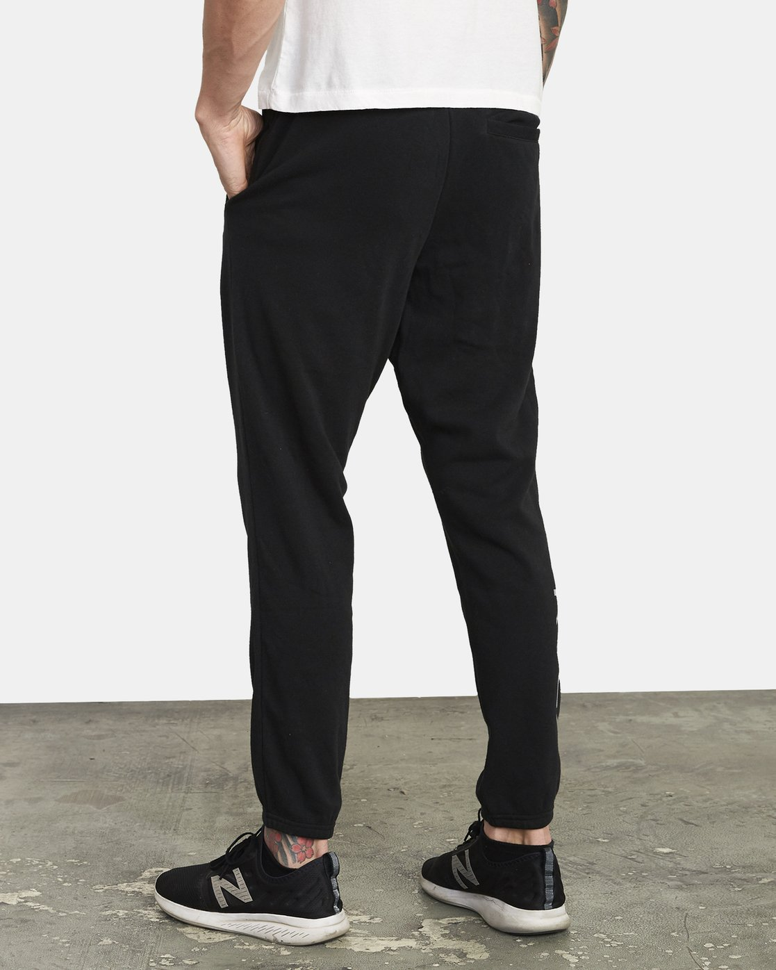 2 ​The Swift Sweat Pant Black VJ301SWT RVCA
