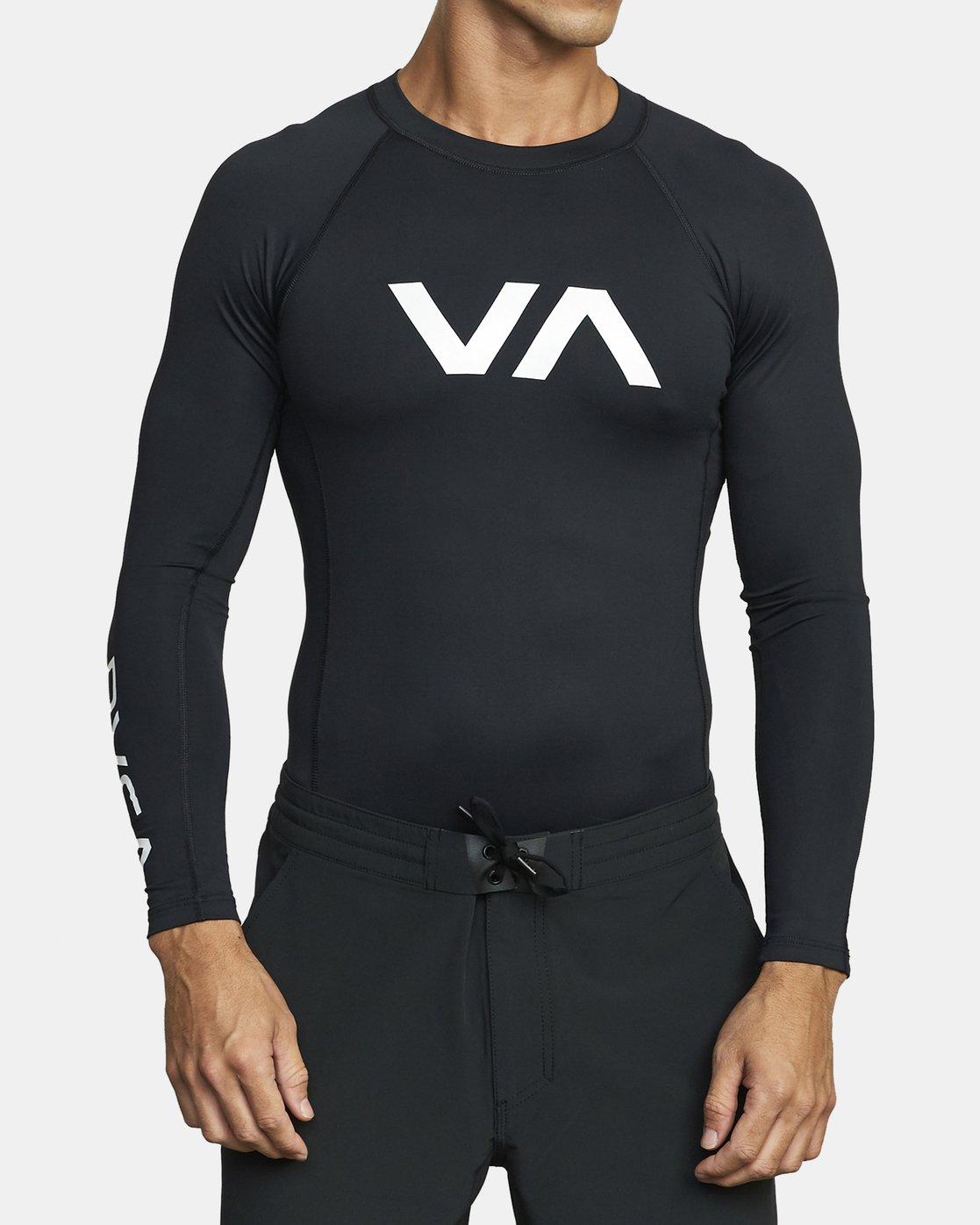 1 VA Sport Rashguard Orange VR51PRSR RVCA