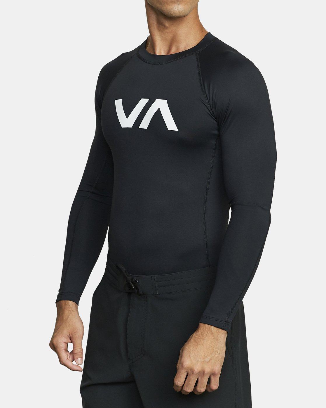 3 VA Sport Rashguard Orange VR51PRSR RVCA