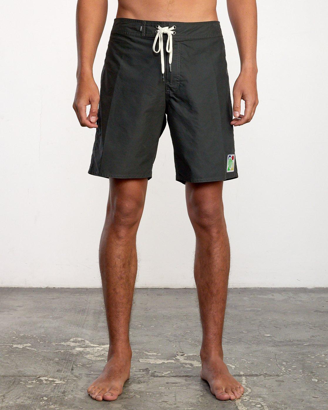 "1 Bailey Elder 18"" - Board Shorts for Men Black W1BSRVRVP1 RVCA"