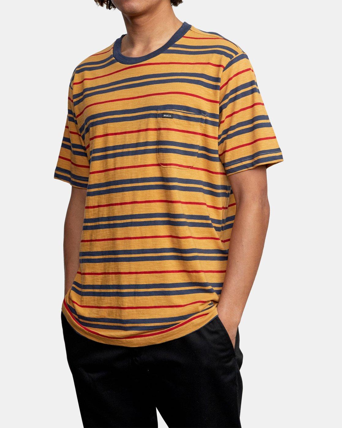 4 Capistrano Stripe - T-Shirt for Men  W1KTRARVP1 RVCA