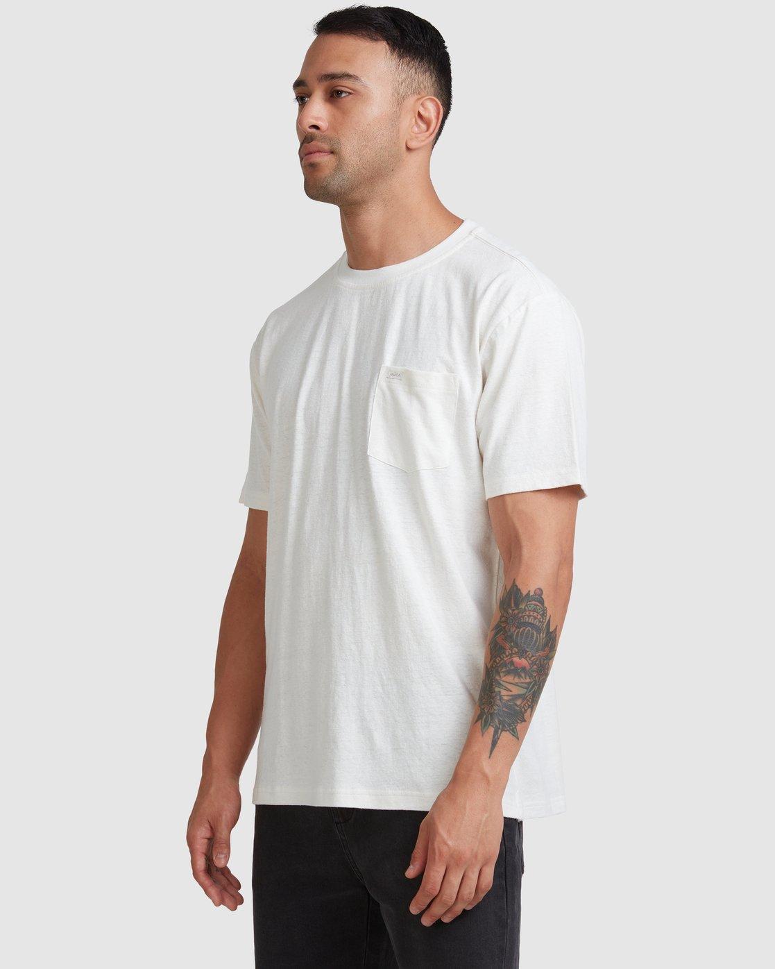 4 Hemp Neutral - T-Shirt Beige W1KTRHRVP1 RVCA