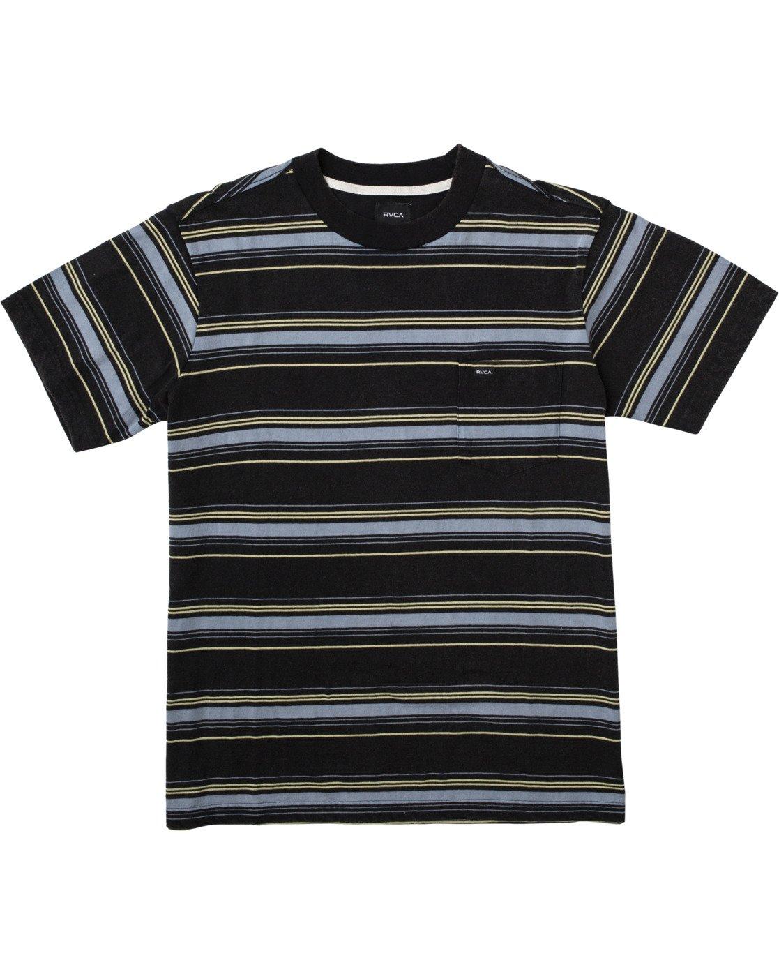 0 Bez Stripe - T-Shirt for Men Black W1KTRJRVP1 RVCA