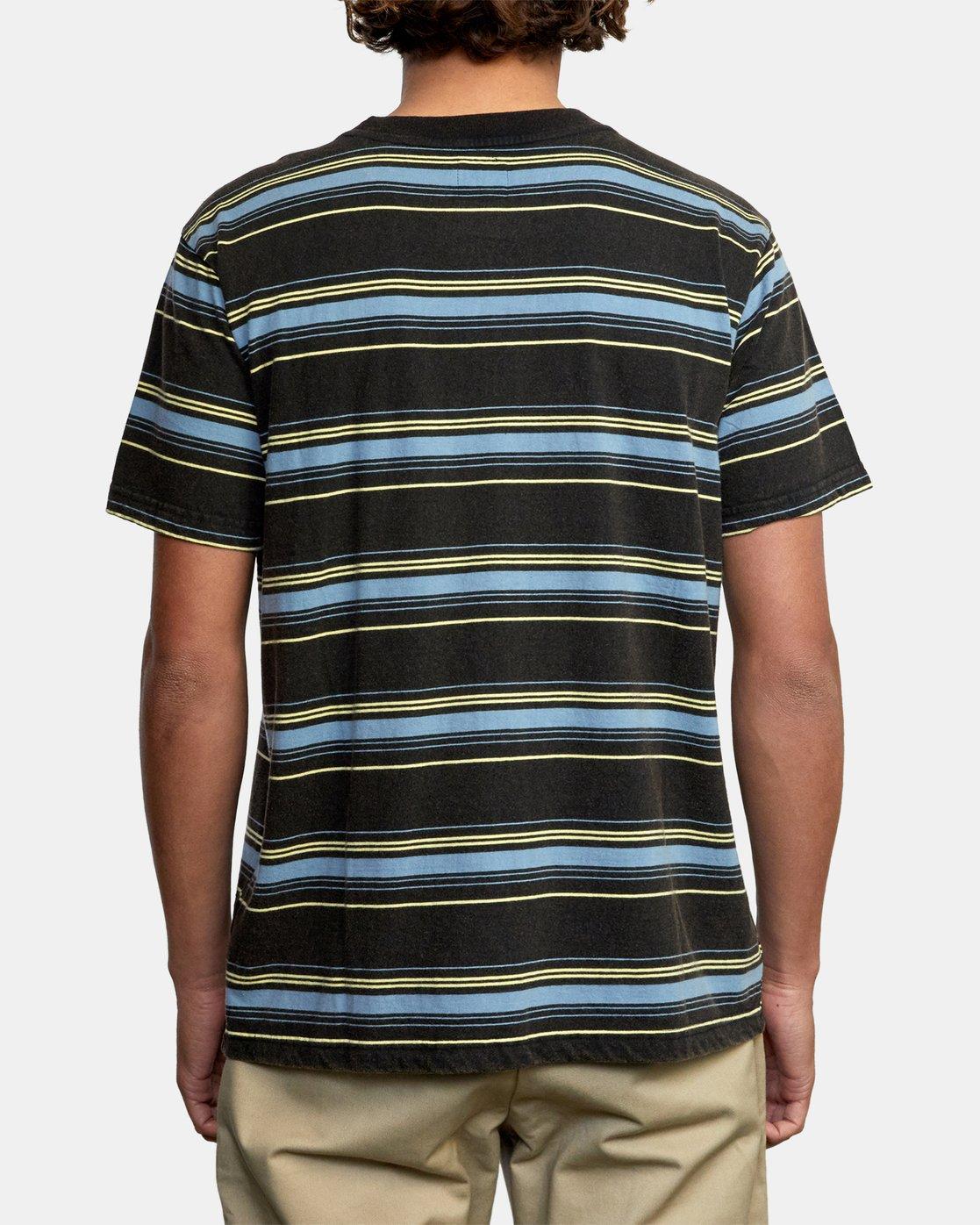 2 Bez Stripe - T-Shirt for Men Black W1KTRJRVP1 RVCA