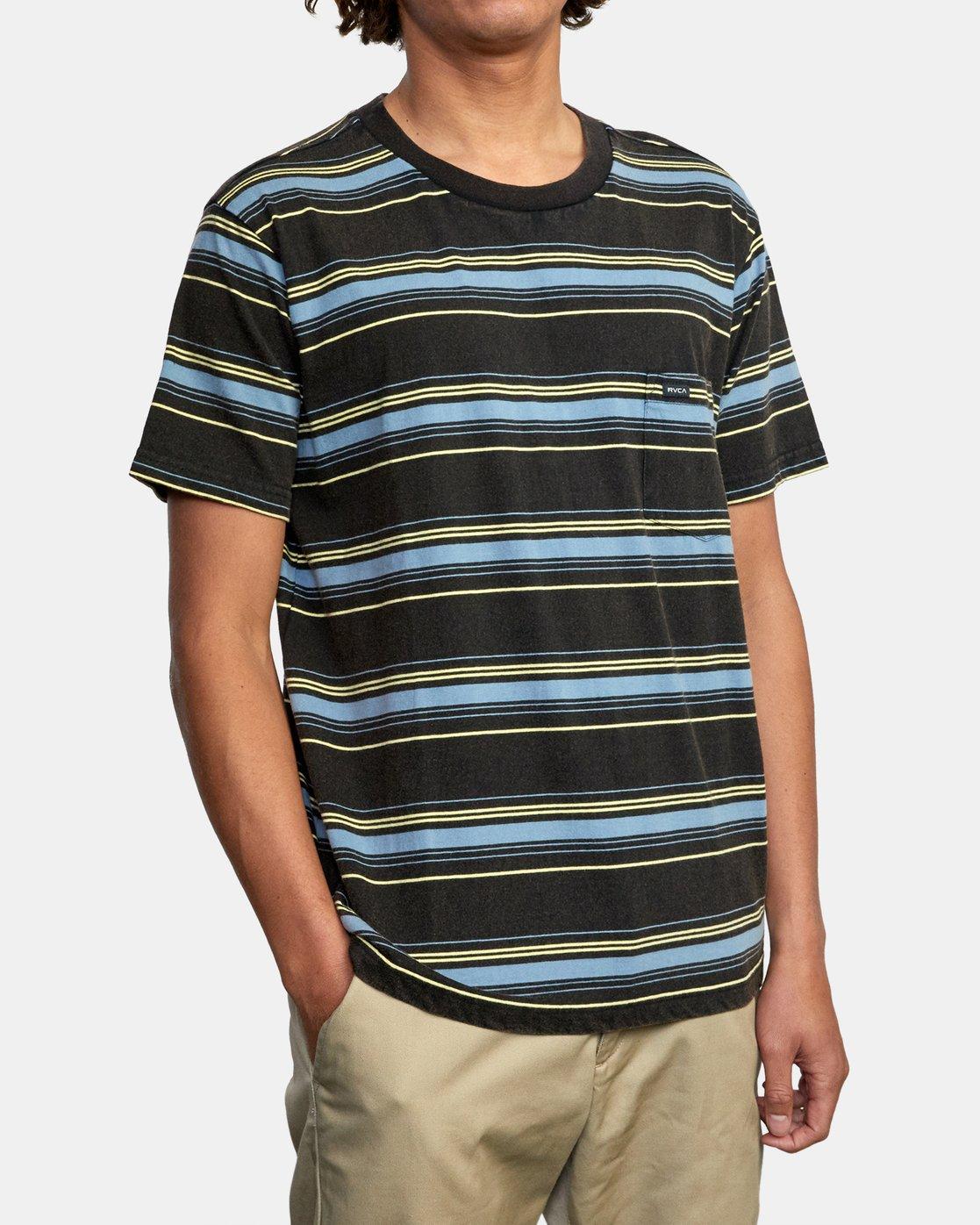 5 Bez Stripe - T-Shirt for Men Black W1KTRJRVP1 RVCA