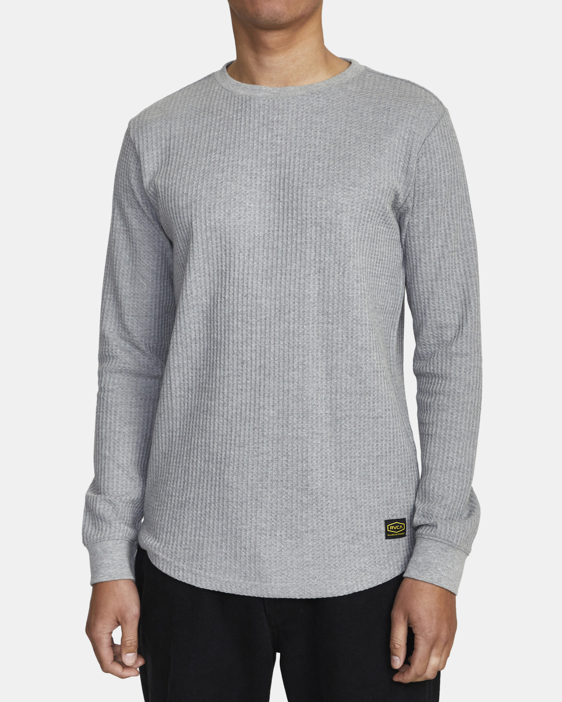 4 Recession Collection Day Shift - Long Sleeve Thermal Top for Men Grey W1KTRKRVP1 RVCA