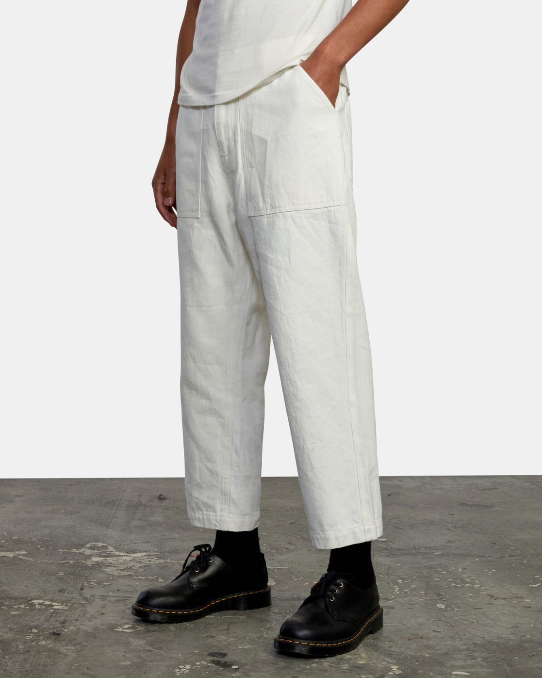4 Neutral Hemp - Relaxed Fit Trousers Silver W1PTRDRVP1 RVCA