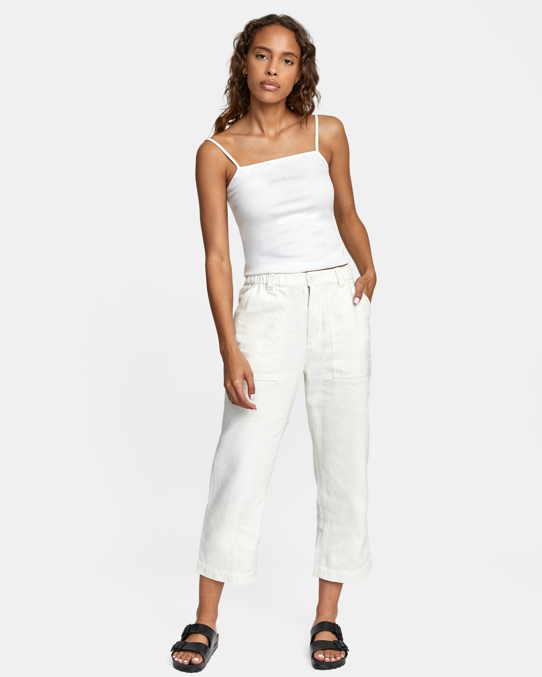 6 Neutral Hemp - Relaxed Fit Trousers Silver W1PTRDRVP1 RVCA