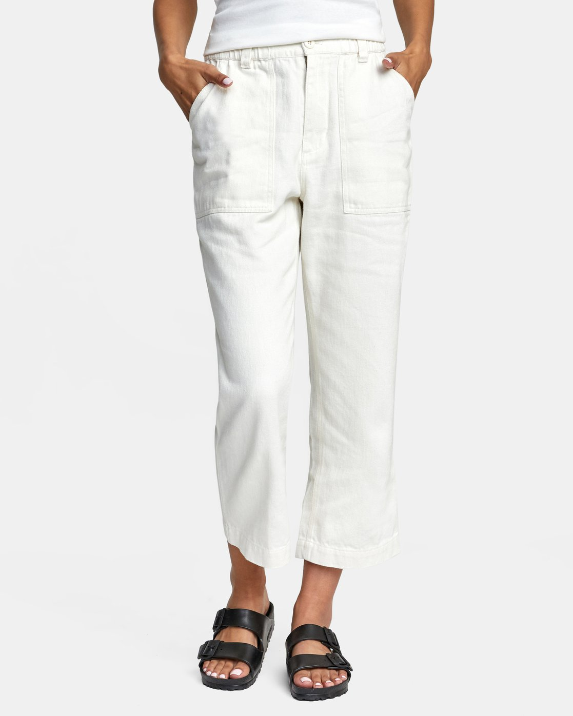 7 Neutral Hemp - Relaxed Fit Trousers Silver W1PTRDRVP1 RVCA