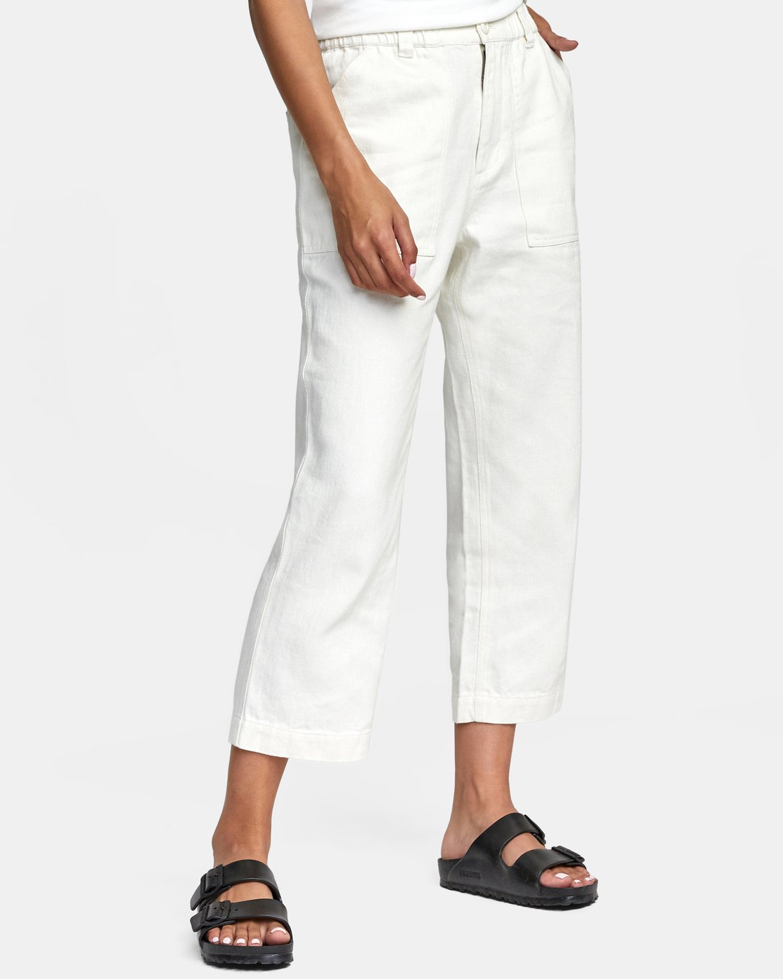 9 Neutral Hemp - Relaxed Fit Trousers Silver W1PTRDRVP1 RVCA