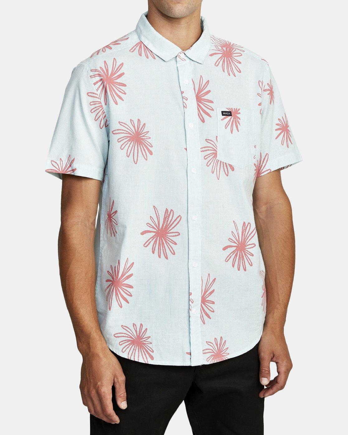 7 Whirls - Short Sleeve Shirt for Men Pink W1SHIARVP1 RVCA