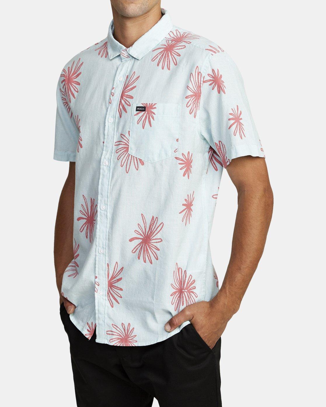 2 Whirls - Short Sleeve Shirt for Men Pink W1SHIARVP1 RVCA