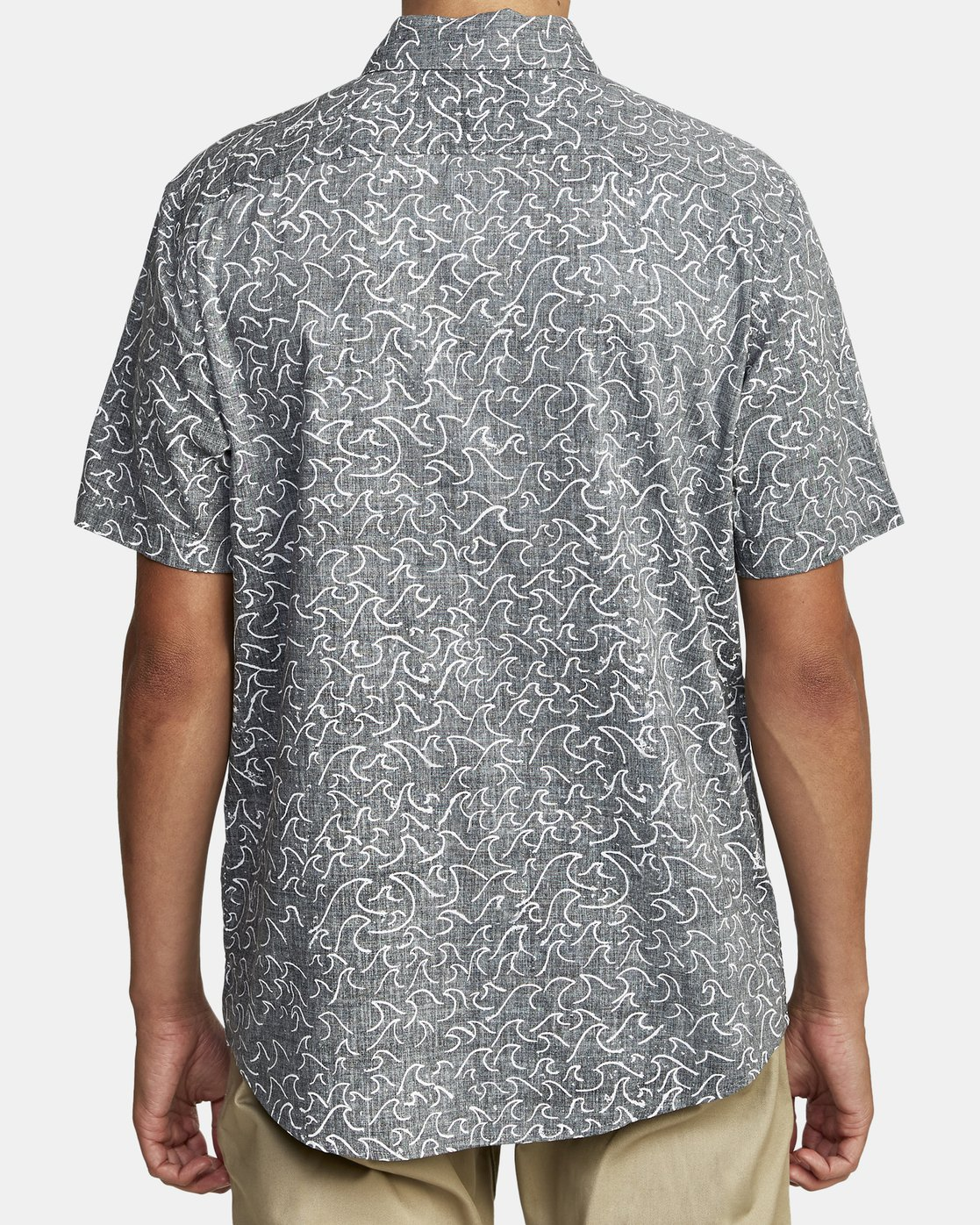 6 Oblow Waves - Short Sleeve Shirt for Men Black W1SHIDRVP1 RVCA