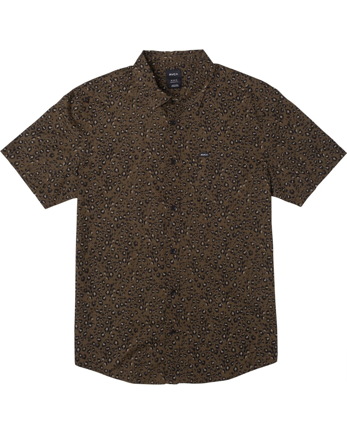 0 No Fun - Short Sleeve Shirt for Men Brown W1SHRERVP1 RVCA