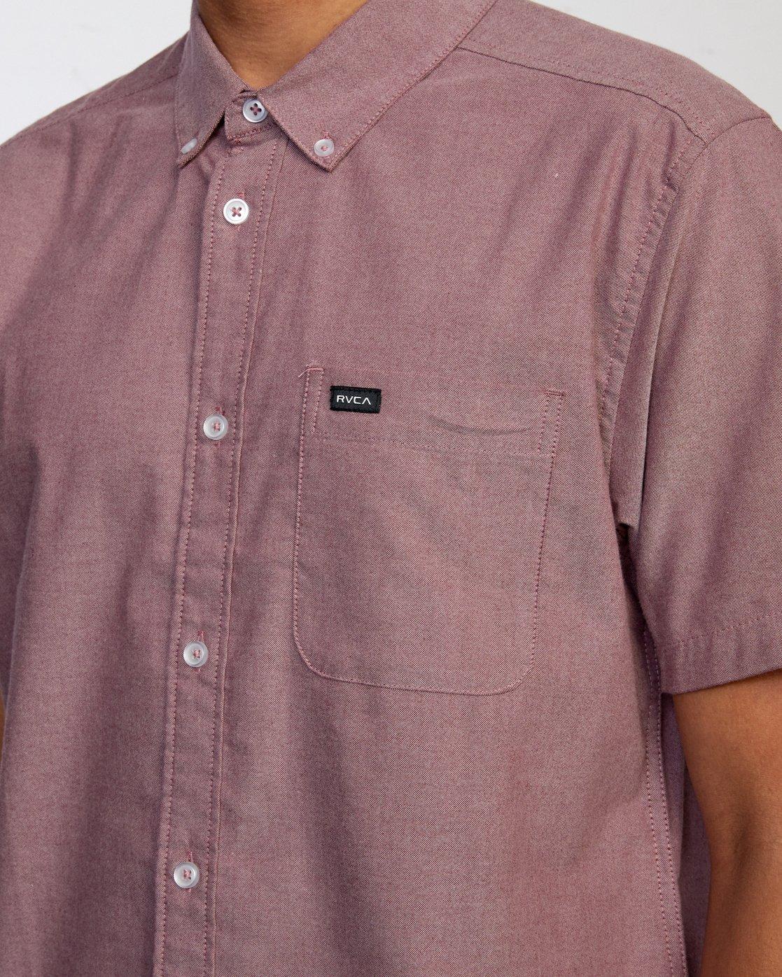 3 That'll Do - Short Sleeve Shirt for Men Red W1SHRHRVP1 RVCA