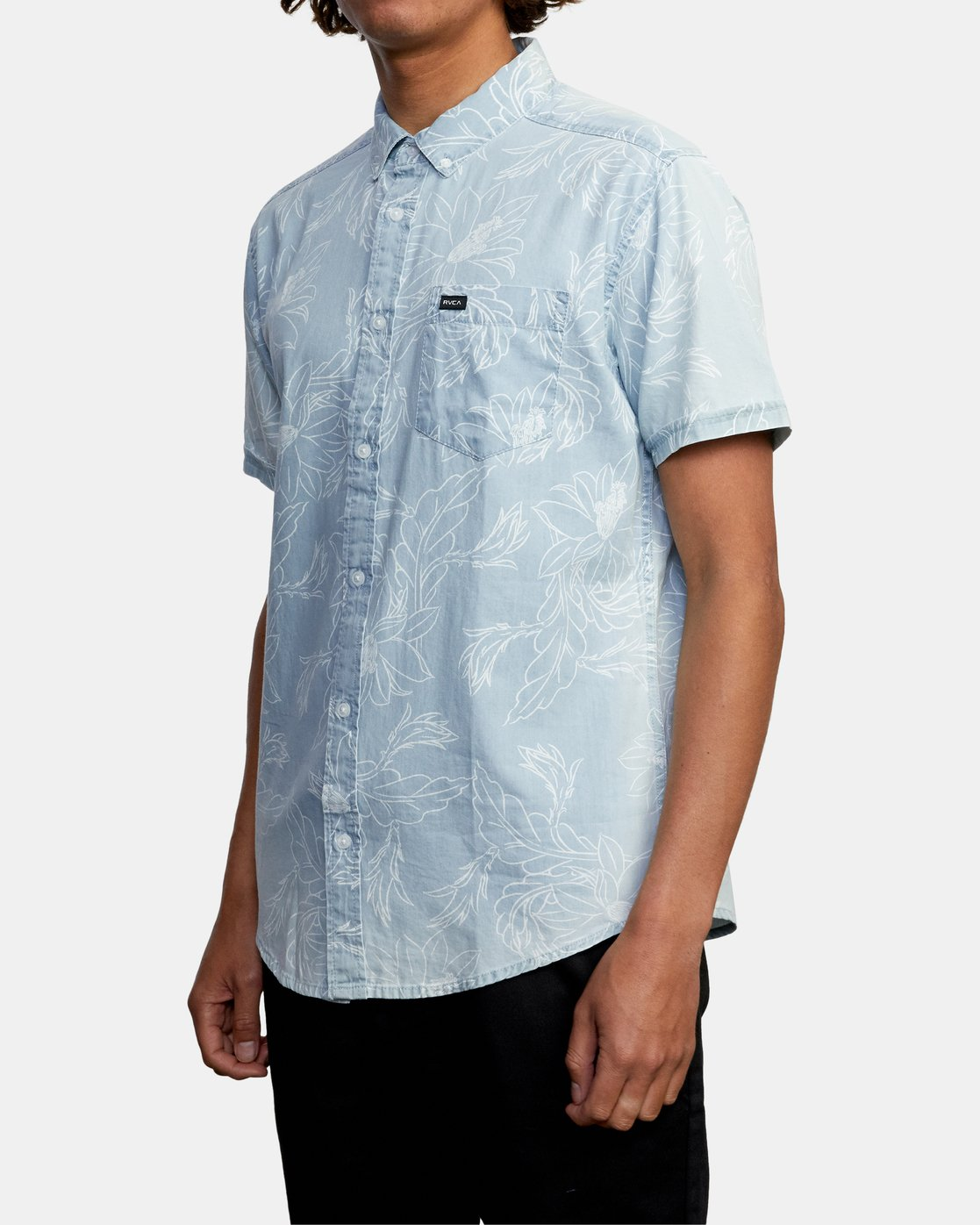 4 Hastings Floral - Short Sleeve Shirt for Men Blue W1SHRKRVP1 RVCA