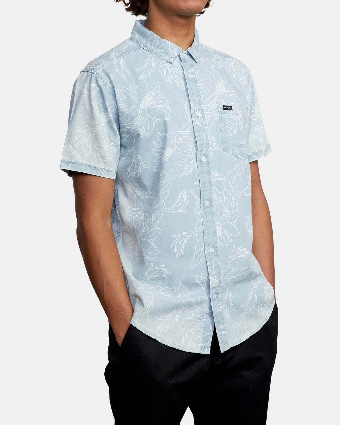 5 Hastings Floral - Short Sleeve Shirt for Men Blue W1SHRKRVP1 RVCA