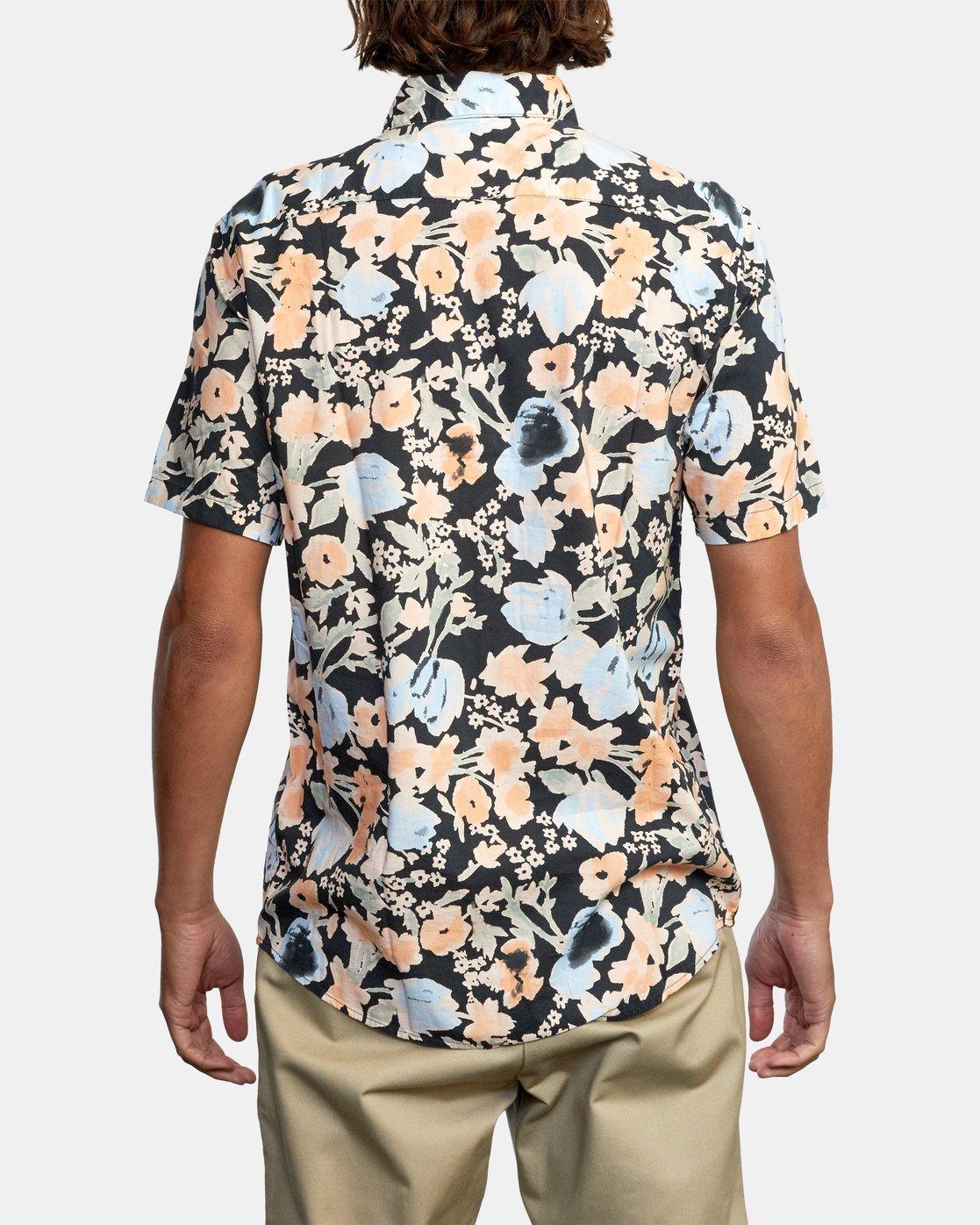 3 Pressure Drop - Short Sleeve Shirt for Men Black W1SHRORVP1 RVCA