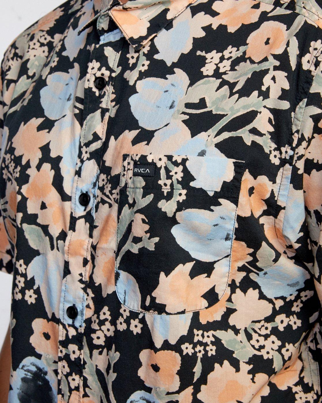 4 Pressure Drop - Short Sleeve Shirt for Men Black W1SHRORVP1 RVCA