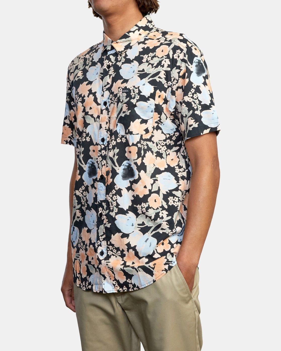 6 Pressure Drop - Short Sleeve Shirt for Men Black W1SHRORVP1 RVCA