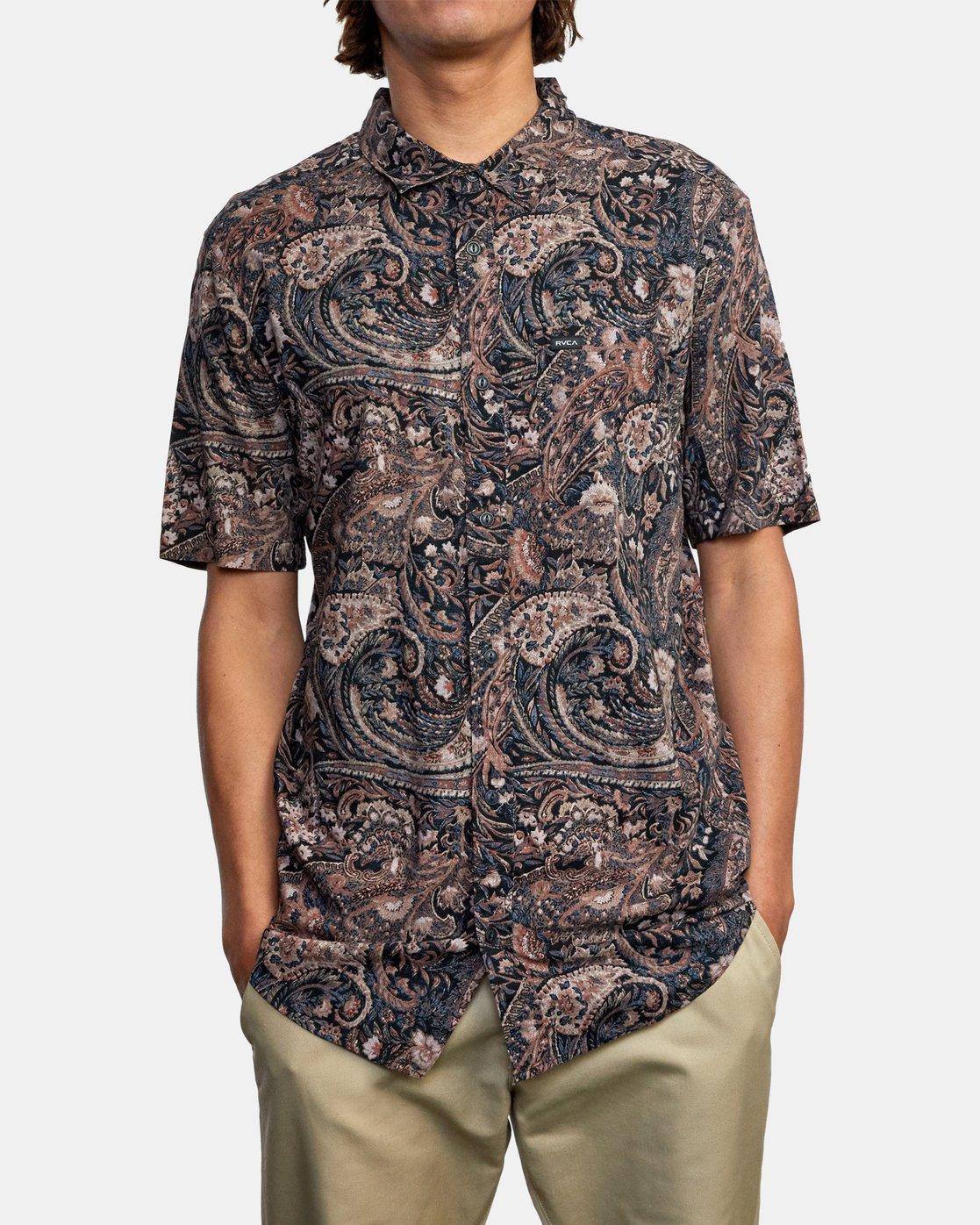 2 Tangier Paisley - Short Sleeve Shirt for Men  W1SHRTRVP1 RVCA