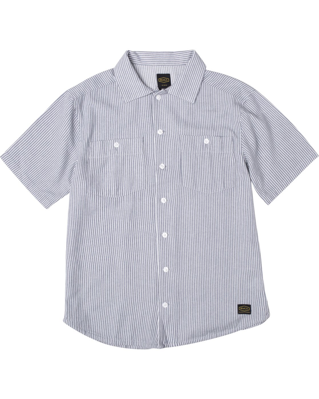 0 Recession Collection Day Shift Stripe - Short Sleeve Shirt for Men Blue W1SHRXRVP1 RVCA