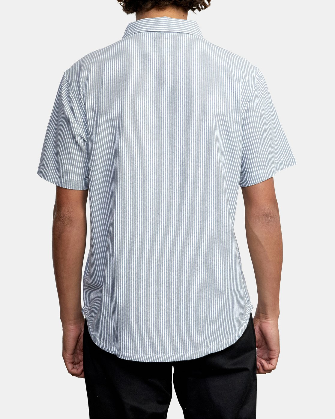 2 Recession Collection Day Shift Stripe - Short Sleeve Shirt for Men Blue W1SHRXRVP1 RVCA