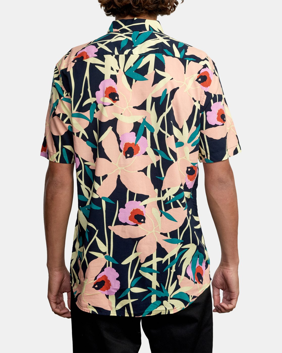 2 Bamboo Floral - Short Sleeve Shirt for Men Blue W1SHRZRVP1 RVCA