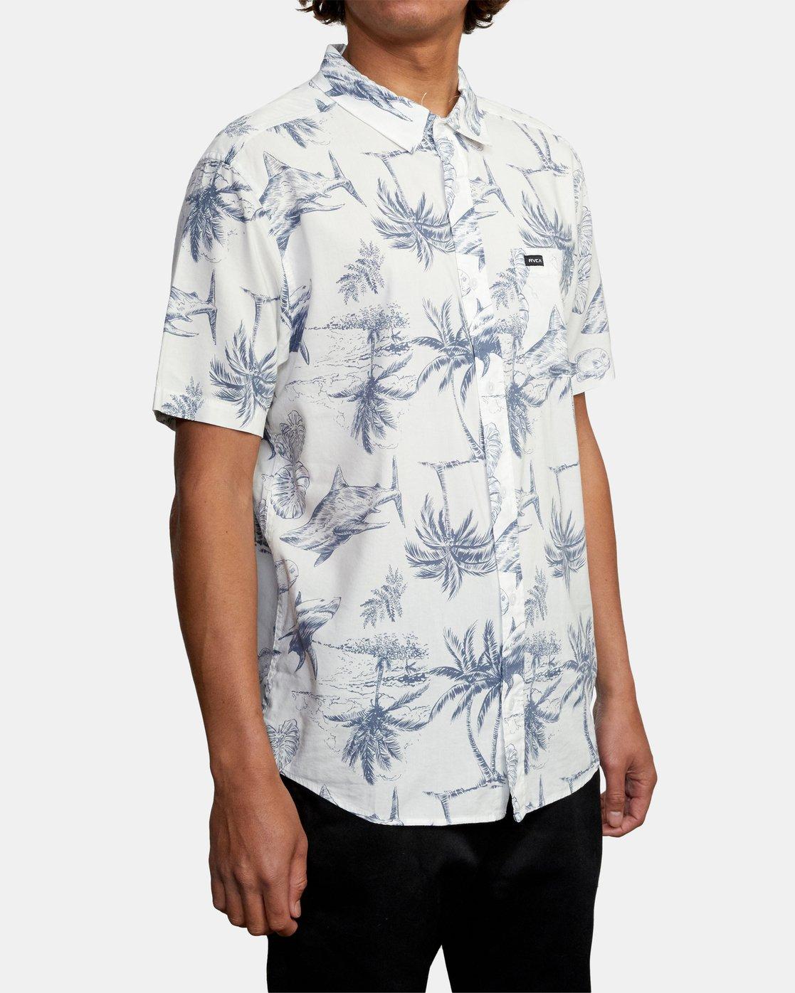 6 Panic Point - Short Sleeve Shirt for Men White W1SHSERVP1 RVCA