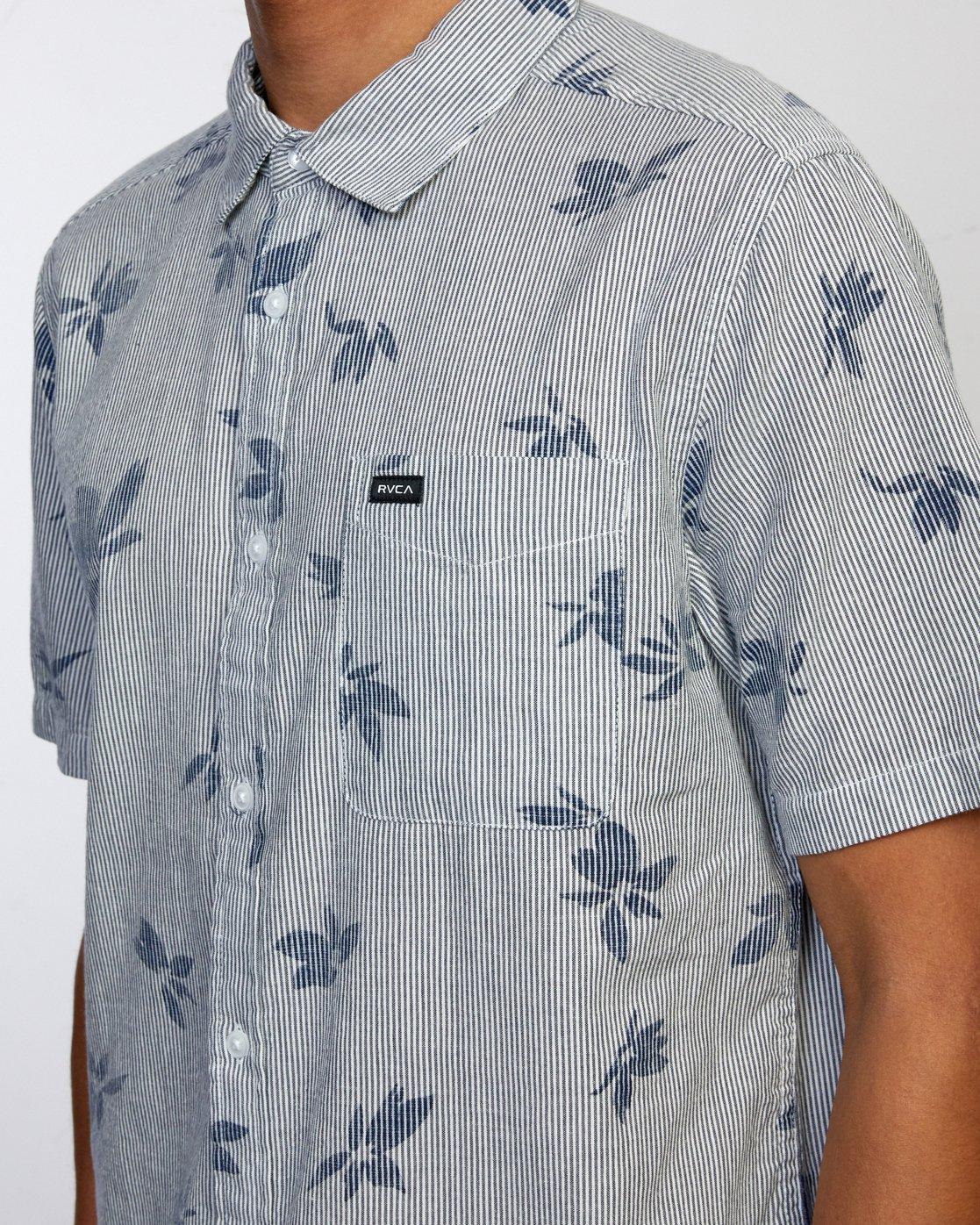3 Endless Seersucker - Short Sleeve Shirt for Men  W1SHSFRVP1 RVCA