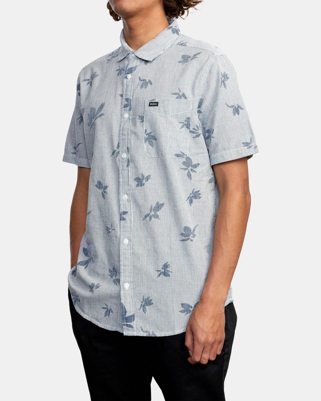 4 Endless Seersucker - Short Sleeve Shirt for Men  W1SHSFRVP1 RVCA
