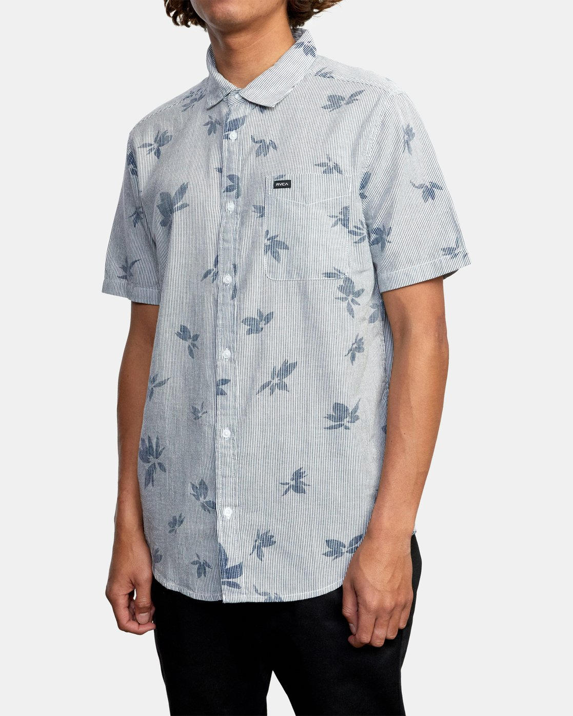 5 Endless Seersucker - Short Sleeve Shirt for Men  W1SHSFRVP1 RVCA