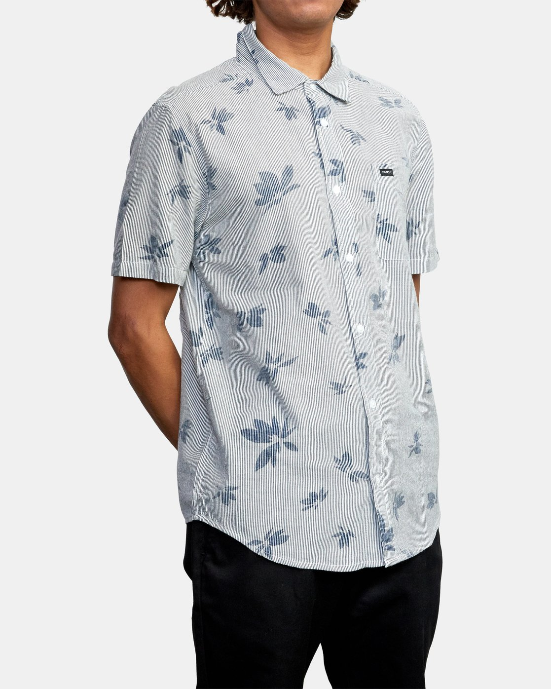 6 Endless Seersucker - Short Sleeve Shirt for Men  W1SHSFRVP1 RVCA