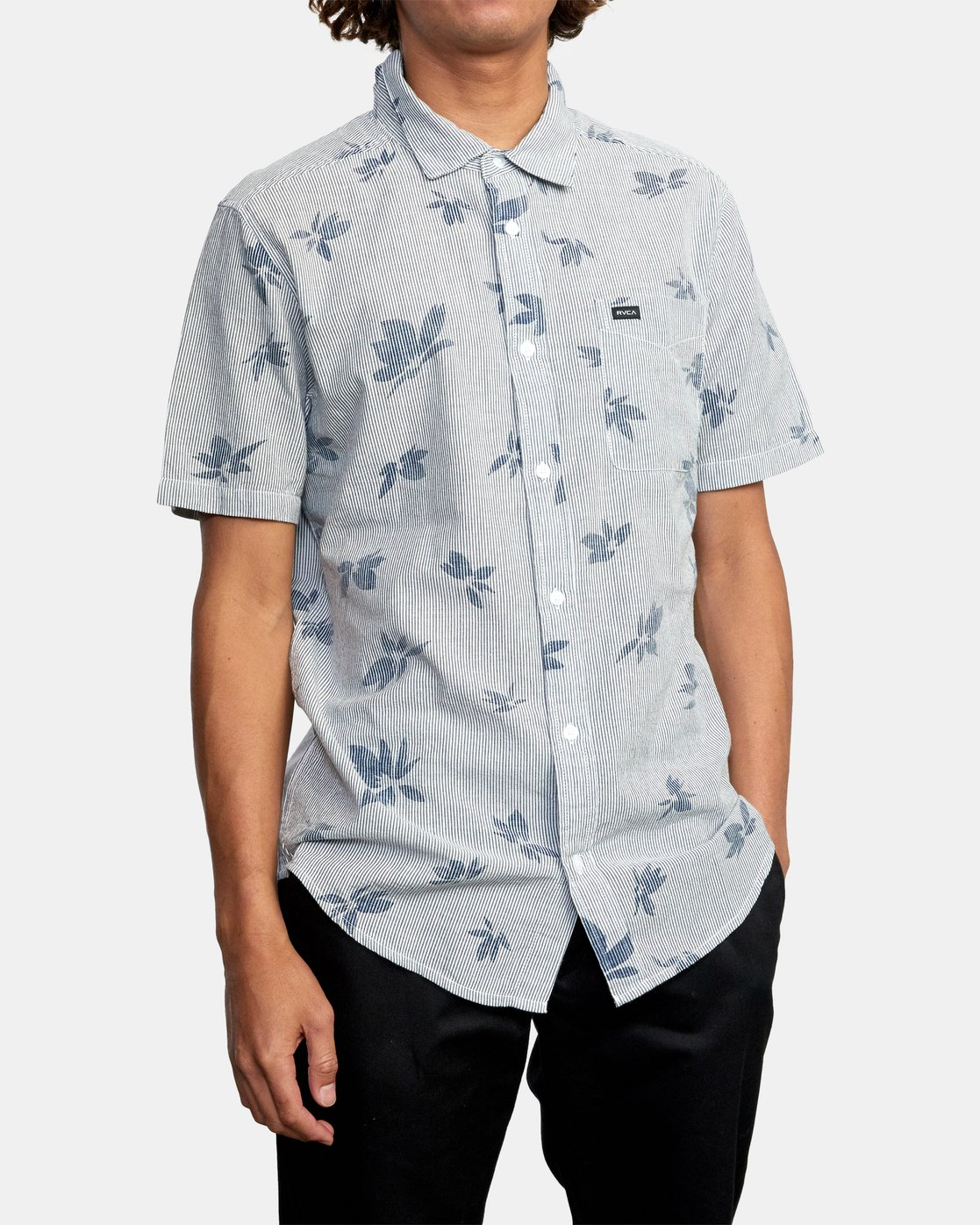 7 Endless Seersucker - Short Sleeve Shirt for Men  W1SHSFRVP1 RVCA