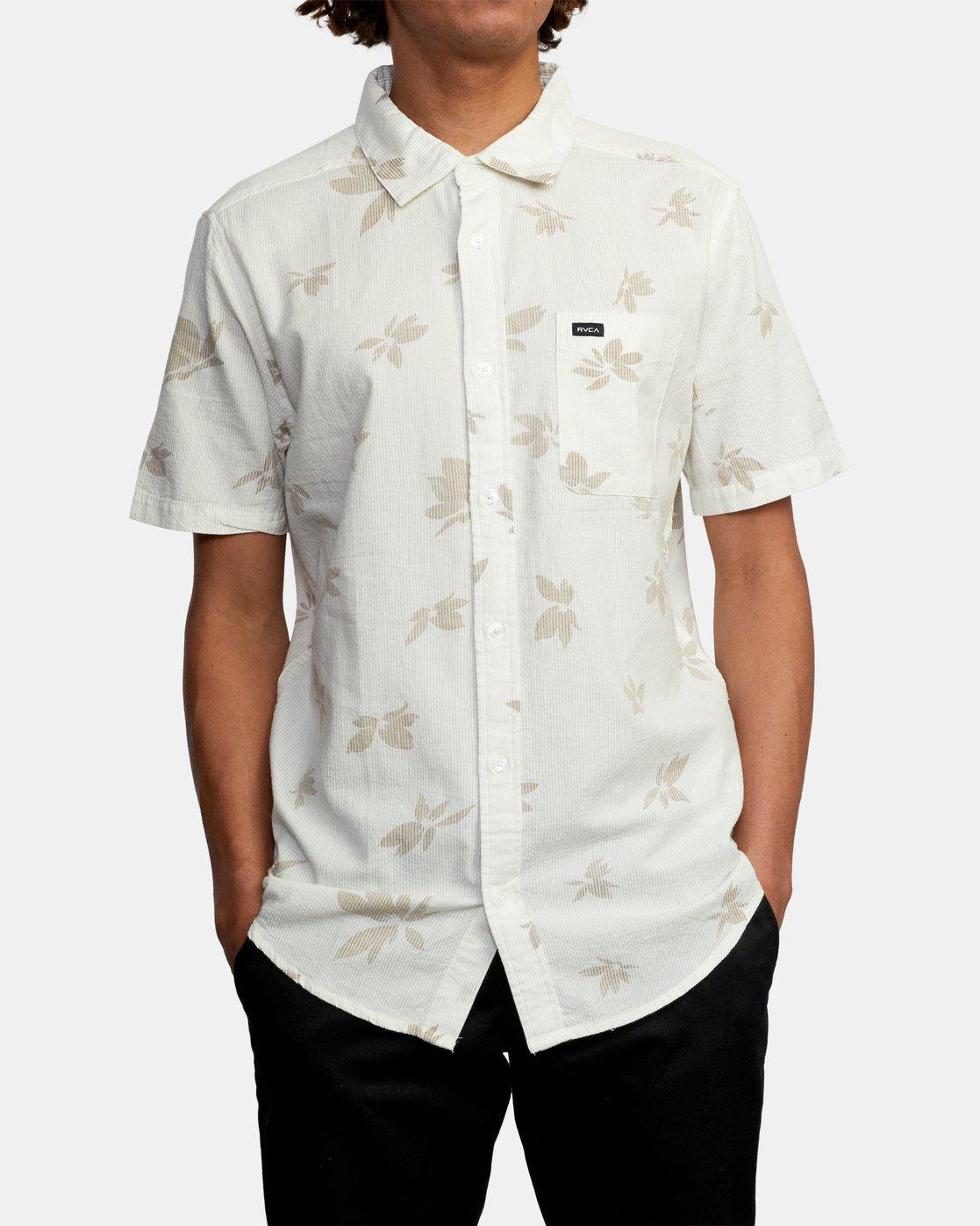 1 Endless Seersucker - Short Sleeve Shirt for Men White W1SHSFRVP1 RVCA