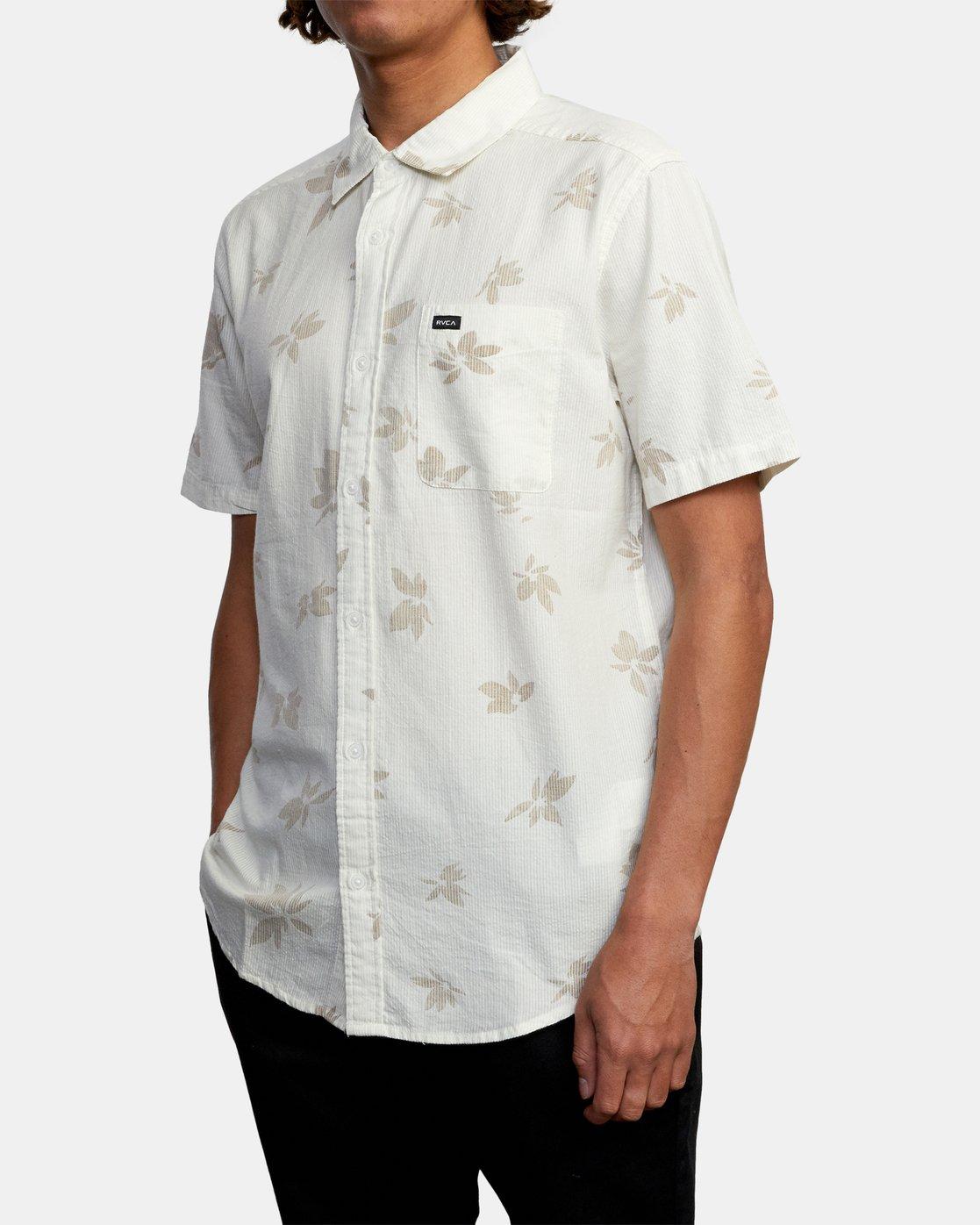 4 Endless Seersucker - Short Sleeve Shirt for Men White W1SHSFRVP1 RVCA
