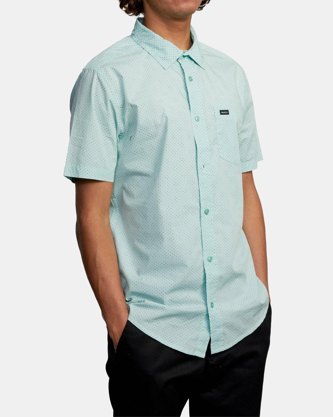 5 Carlo Dot - Short Sleeve Shirt for Men  W1SHSHRVP1 RVCA